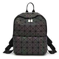 New Luminous women Backpacks Female Fashion Girl Daily Backpack female Geometry Package Folding Bags Bao School Bag For Gir