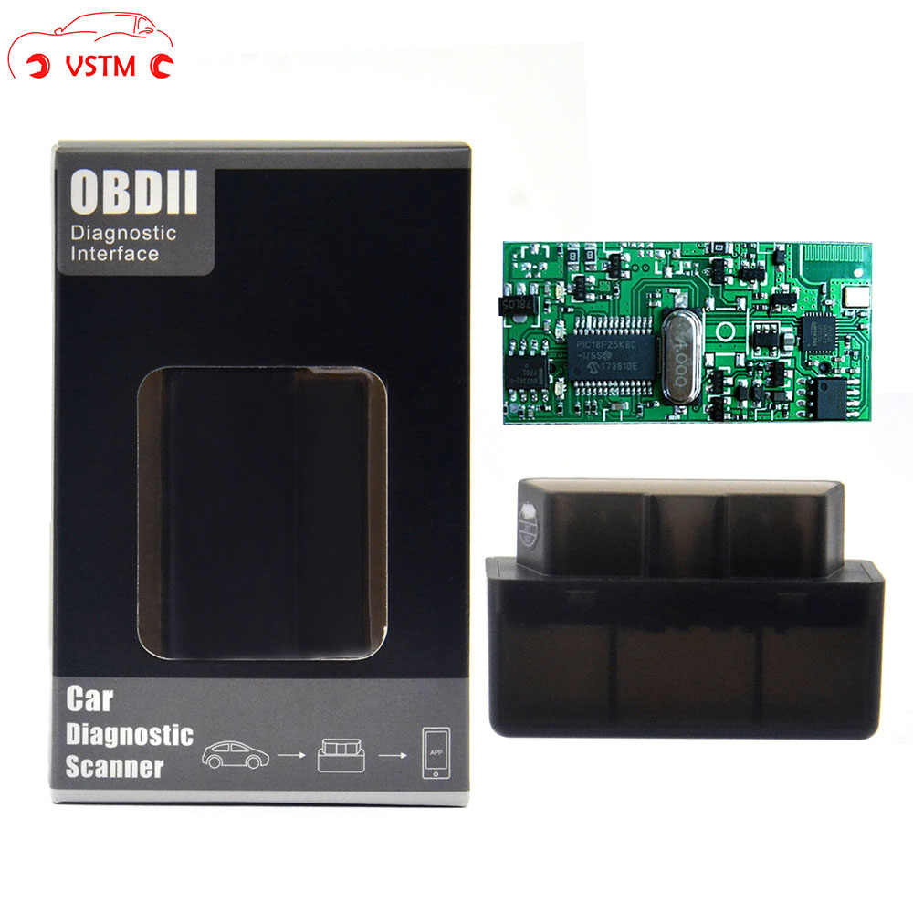 2019 Mini V1.5 Super MINI ELM327 Bluetooth ELM 327 PIC18F25K80 Version 1.5 OBD2/OBDII pour Android couple Scanner de Code de voiture