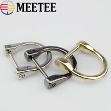 2pcs 25mm Metal Alloy Bags O D Ring Buckle Handbags Removable Screw for Luggage Hardware Decoration Accessories G7-1