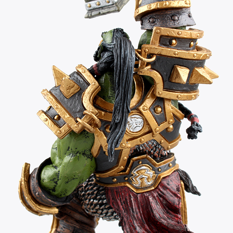 DC WOW Thrall The Orc Shamman Action Figure Toys Thrall The Orc Shamman Doll PVC ACGN Figure Collectible Model Toy Brinquedos 4