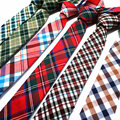 Высокое качество 2016 классический плед 5.5 см мужская хлопок галстук синий зеленый (1 шт./лот) оптовые галстуки