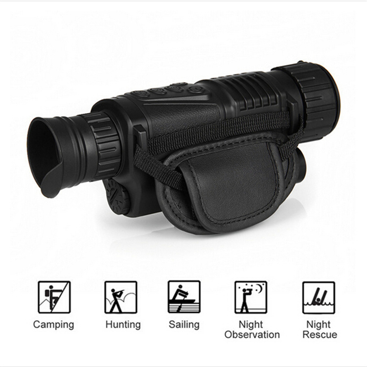 High quality powerful portable HD hunting IR digital infrared night vision devices monocular frico fms200