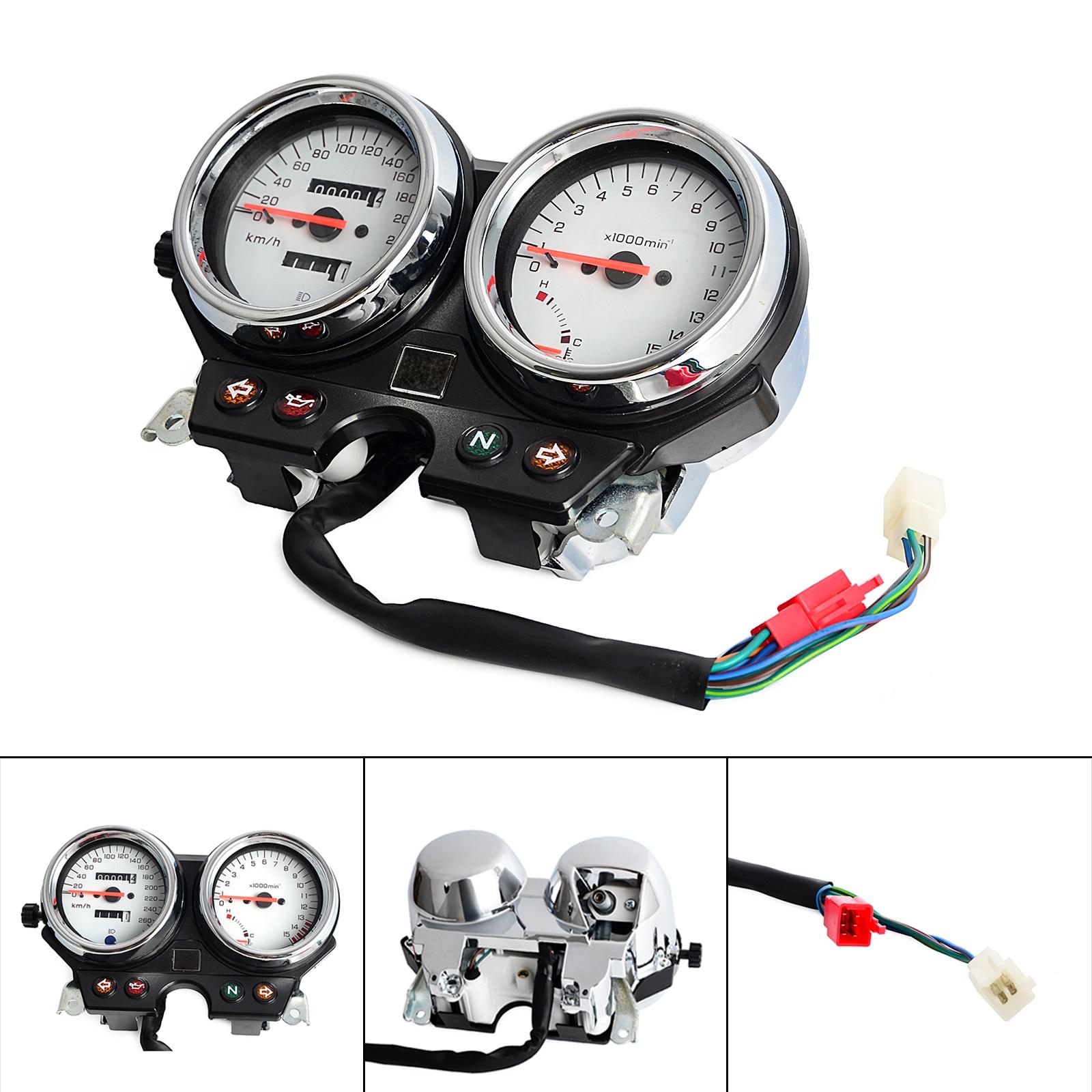 Tacómetro del tablero de instrumentos del velocímetro del grupo de indicadores de la motocicleta para Honda CB600 Hornet 600 1996 1997 1998 1999 2000 2001 2002