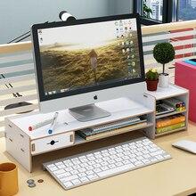 Desktop Keyboard Storage Racks Office Multi Shelf Desk Top Tidy Stationery Sundries Pen Storage Organizer Accessories Lattice