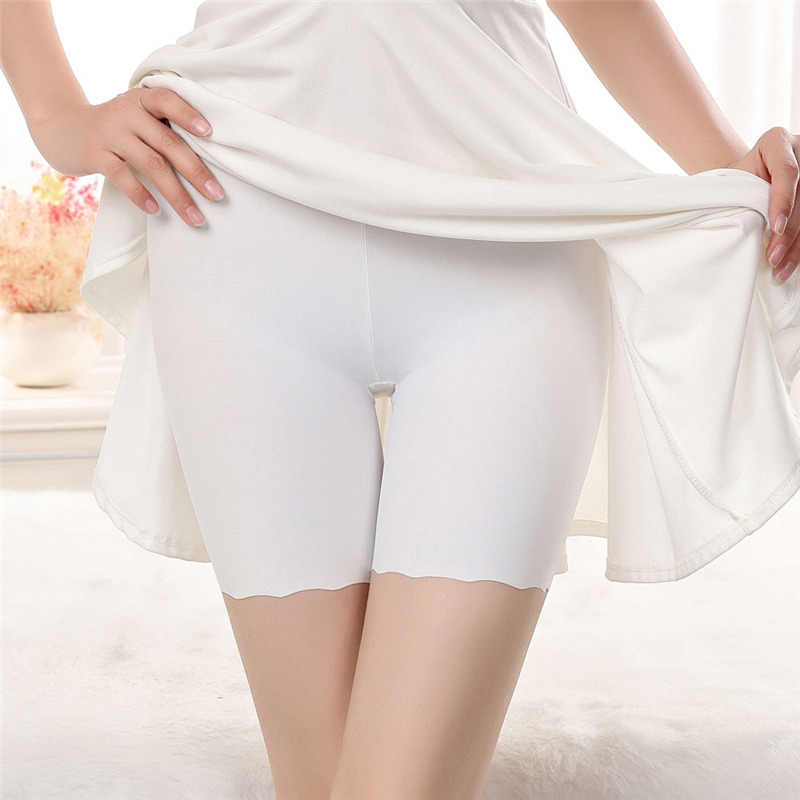 Seksowne kobiety miękka bawełna bezszwowe bezpieczeństwo krótkie spodnie letnia jakość pod spódniczką spodenki modalne lodowy jedwab oddychające krótkie rajstopy 28 #5