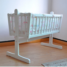 Baby cradle bed quality solid wood baby bed bedding bb bed baby shaker