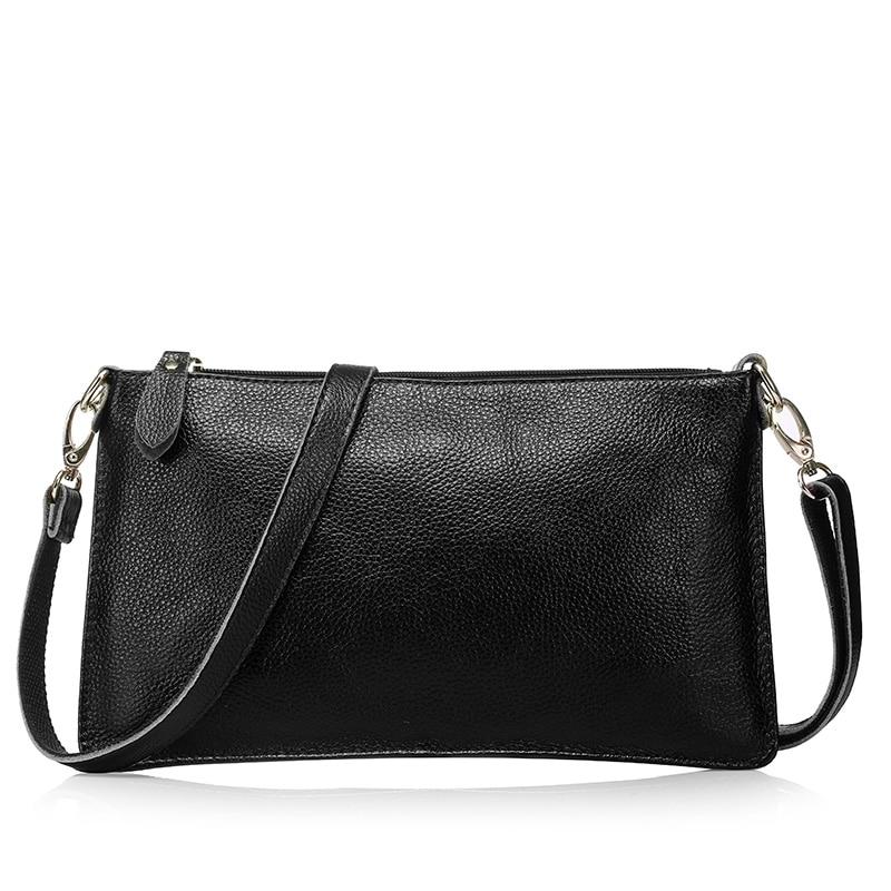 ФОТО 2017 first layer genuine leather  women's day clutch bag mini messenger bag women's envelope handbag