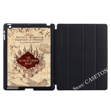 Harry Potter Marauders Map Smart Cover Case For Apple iPad Mini 1 2 3 4 Air Pro 9.7(China (Mainland))