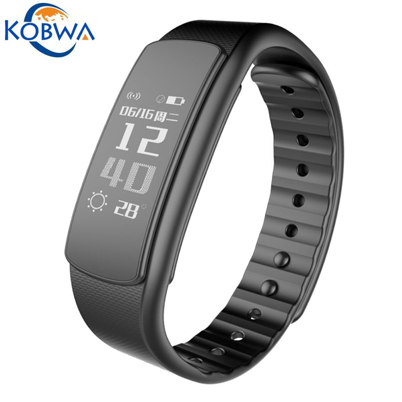 Smart Wristband Waterproof Fitness Tracker Pedometer Heart Rate Monitor Push Message Bluetooth Activity Health Bracelet