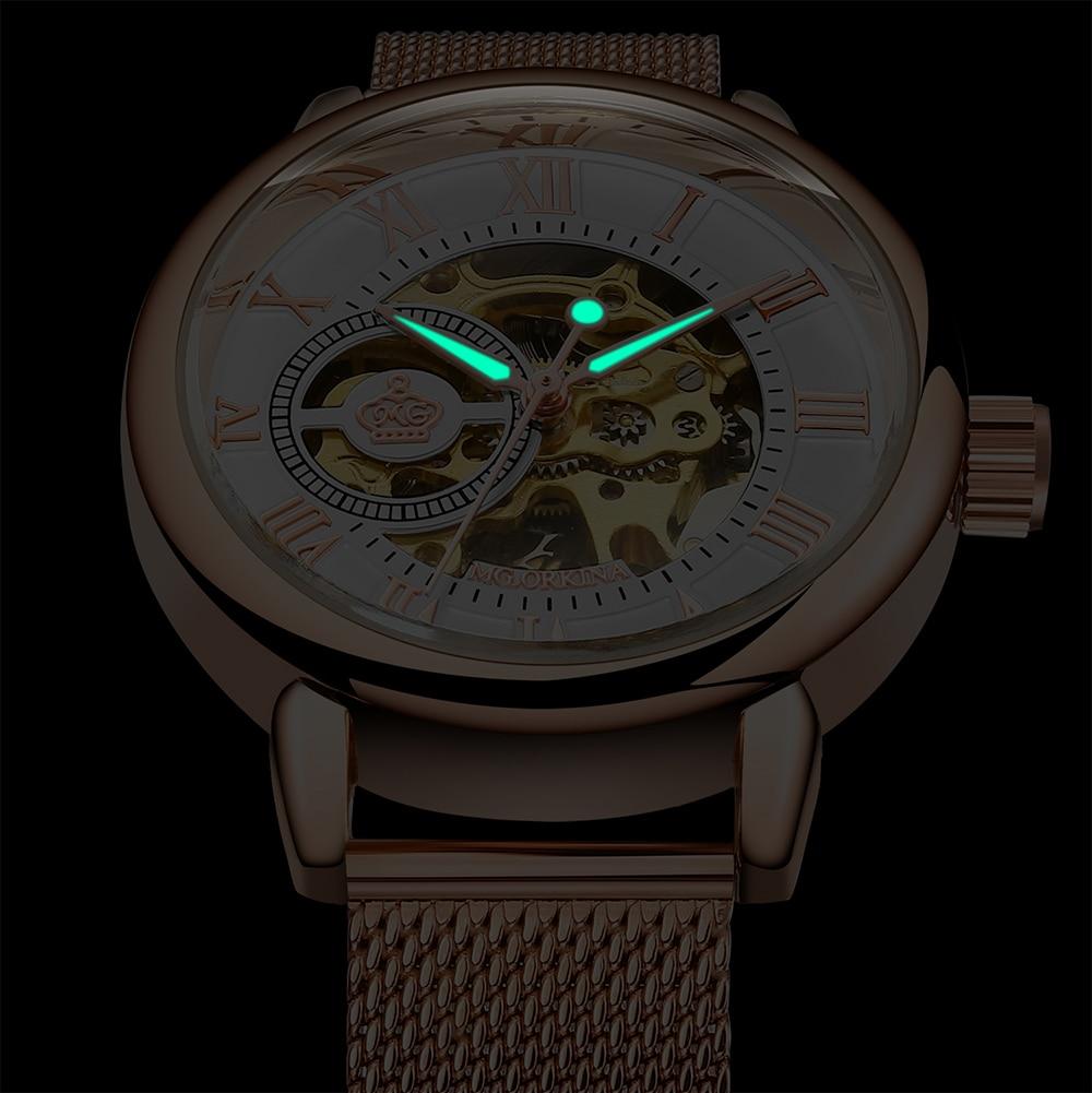 Image 4 - New Fashion Luxury Brand Skeleton Women Mechanical Watch Watch women Automatic Mechanical Watches for women Montre FemmeWomens Watches   -