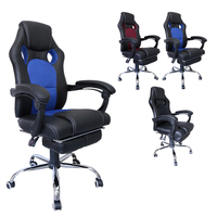 Office Chair Racing Game Computer Chair Height 112 119cm PU surface Black Wine Red Blue backrest Adjustable Indoor swivel chair