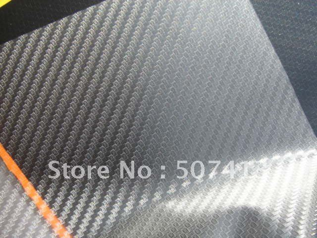 3D carbon fiber vinyl film Transparent  3D car sticker 1.52m*30m  Europe shipping free