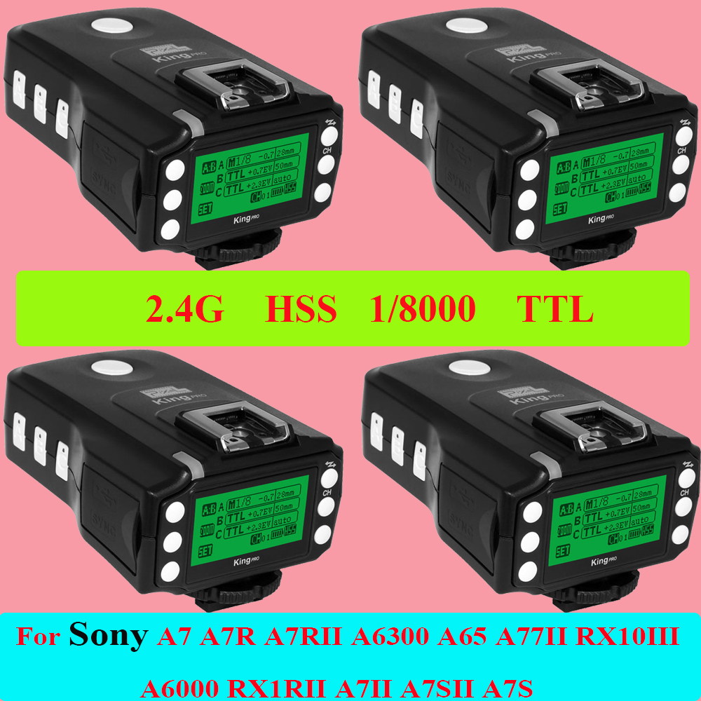 цены  Wireless Remote 2.4G TTL 1/8000S HSS Flash Trigger Transceiver Transmitter Pixel King Pro For Sony A7 Mi Shoe Vs Godox X1T-S x4
