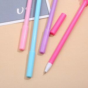 Image 2 - 40 pçs arco íris dos desenhos animados modelagem caneta neutra meng macio estudantes escrever preto escritório assinatura caneta