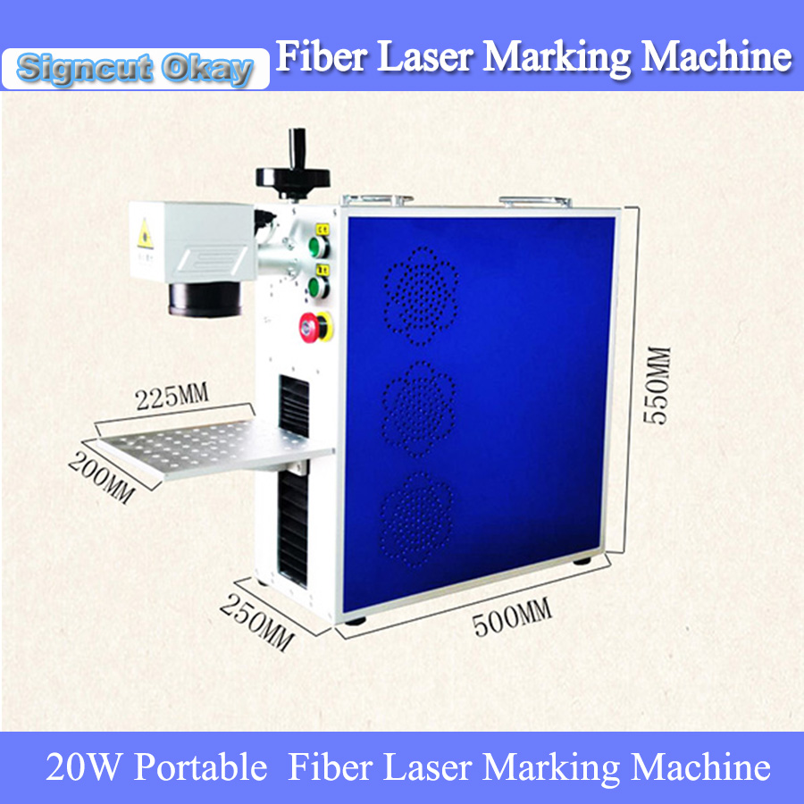 Good Quality Stainless Steel Fiber Metal Laser Marking Machine 20W Portable Fiber Laser Marker Machine For Sale