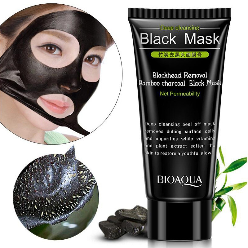 лучшая цена Blackhead Removal Bamboo Charcoal Black Mask Deep Cleansing Peel Off Mask Pores Shrinking Acne Treatment mee-eter verwijderaar