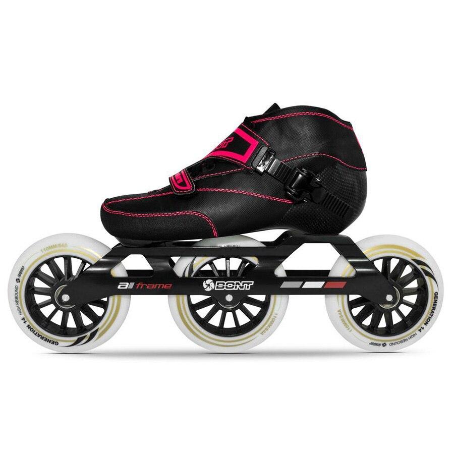 Rollschuhe, Skateboards Und Roller 100% Original Bont Enduro 2pt 3*100/3*110mm Kinder Geschwindigkeit Inline Skates Heatmoldable Carbon Fiber Größe 29-35 Kind Racing Patines Um 50 Prozent Reduziert
