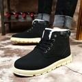2016 homens botas de inverno de couro homem sapatos ankle boot sapatos de neve dos homens martin homem de veludo