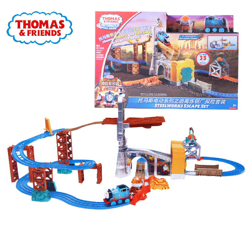 Original Thomas And Friends Electric Series The Exploration Suit Railway Train Track Boy Gift Model Toy Car Toys For Children