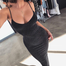 CUERLY straps neck backless sexy long dress 2019 women high waist bodycon elegant fashion party dresses