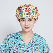 Get more info on the 5 pcs elastic Adjustable Doctor Nurse Caps Women's Surgical Hats with Sweatband Inner Pet Dentist Work Cap Anesthesiologist Caps