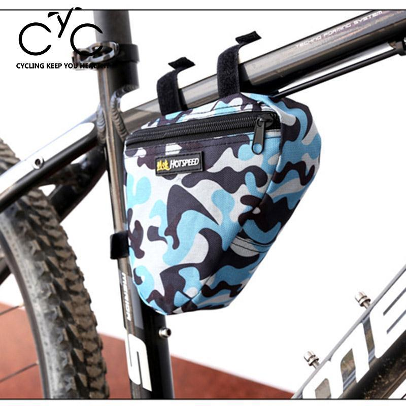 Triangle Cycling Bike Bicycle Front Tube Frame Pouch Saddle Camouflage Bag Case Sporting Goods