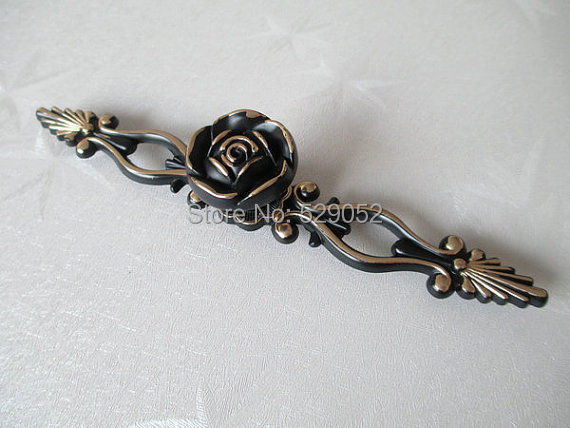 Shabby Chic Dresser Knob Drawer Pulls Knobs Handles Gold Black Vintage Style Kitchen Cabinet Handle Pull Hardware furniture drawer handles wardrobe door handle and knobs cabinet kitchen hardware pull gold silver long hole spacing c c 96 224mm