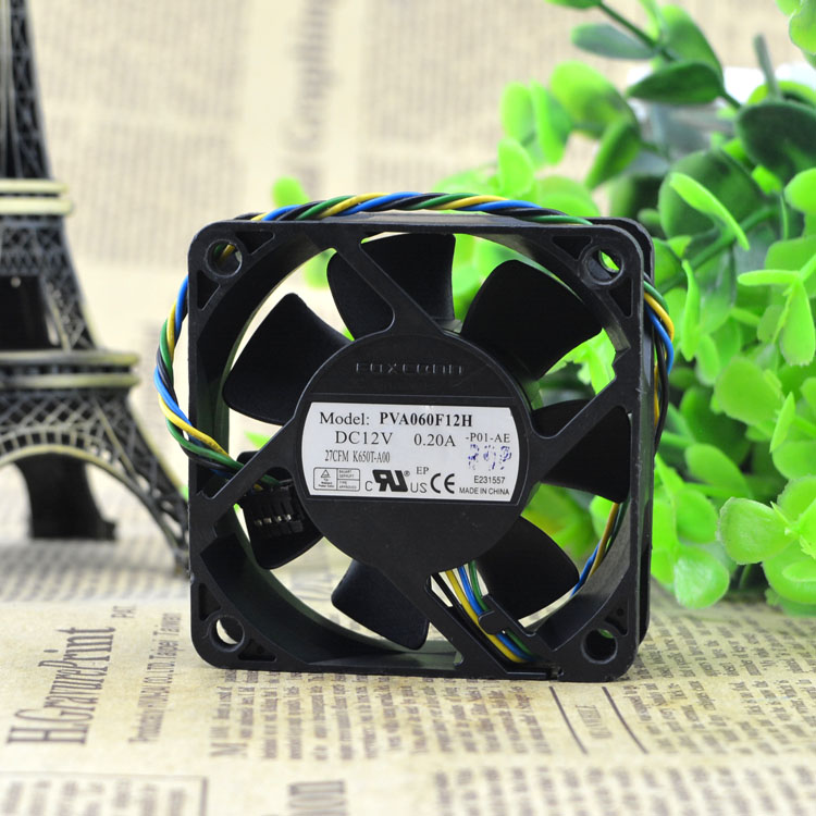 US $66 0 |Aliexpress com : Buy 6020 6CM 12V0 20A four PWM hydraulic copper  line PVA060F12H fan speed control from Reliable fan speed controller