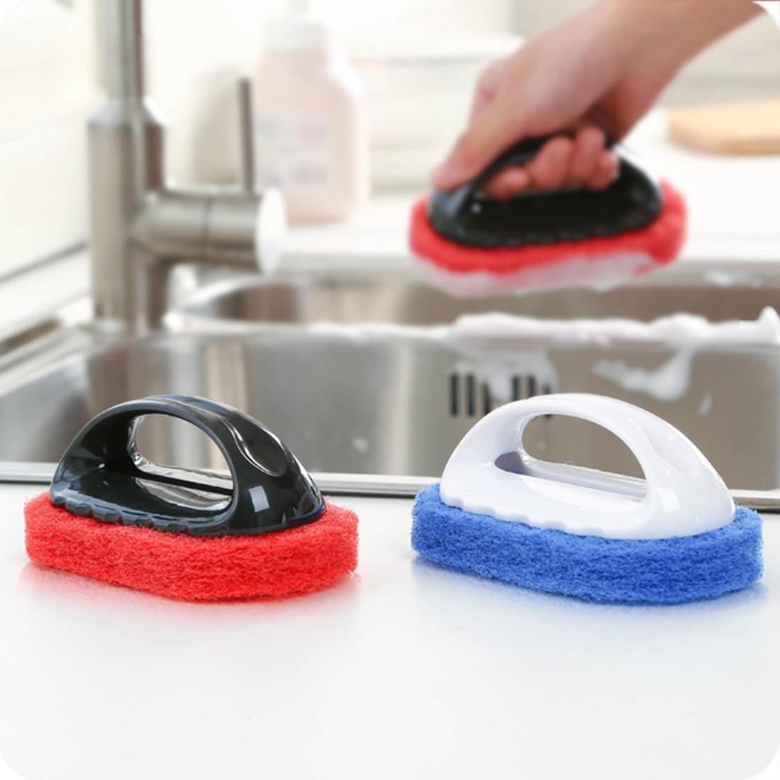 2016 New Household Supplies Handle Hard Sponge Cleaning Brush Sanitary Tools Brusher