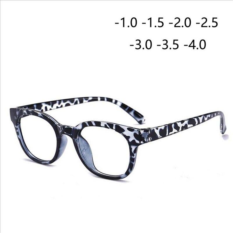 -1,0-1,5-2,0-2,5-3,0-3,5-4,0 Runde Beendet Myopie Gläser Frauen Männer Retro Tr90 Myopie Brillen Gestreiften Rahmen Aromatischer Charakter Und Angenehmer Geschmack