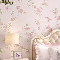 beibehang Mural Stripe Flowers Wallpaper roll Bedroom Living room Wall covering Papel De Parede 3D flooring wall paper behang