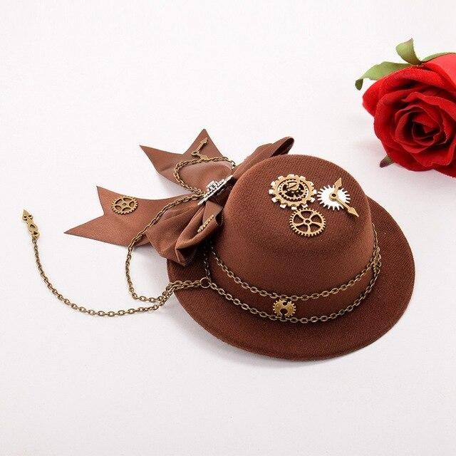 Шляпа лолита в стиле стимпанк 5