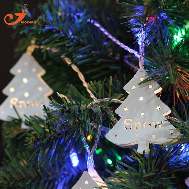 LED Lichtsnoer metal Christmas tree santa lighting (6)