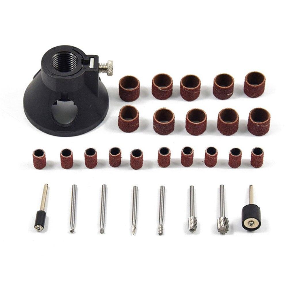 29pcs Rotary Power Tool Set Mini Drill Grinder Polishing Kit Drilling Locator Accessories Sanding Bands Wood Work Mandrels