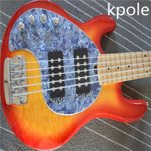 Newly born music man Bass guitar 5 string maple,Kpole left hand Bass, Chinese factory stock