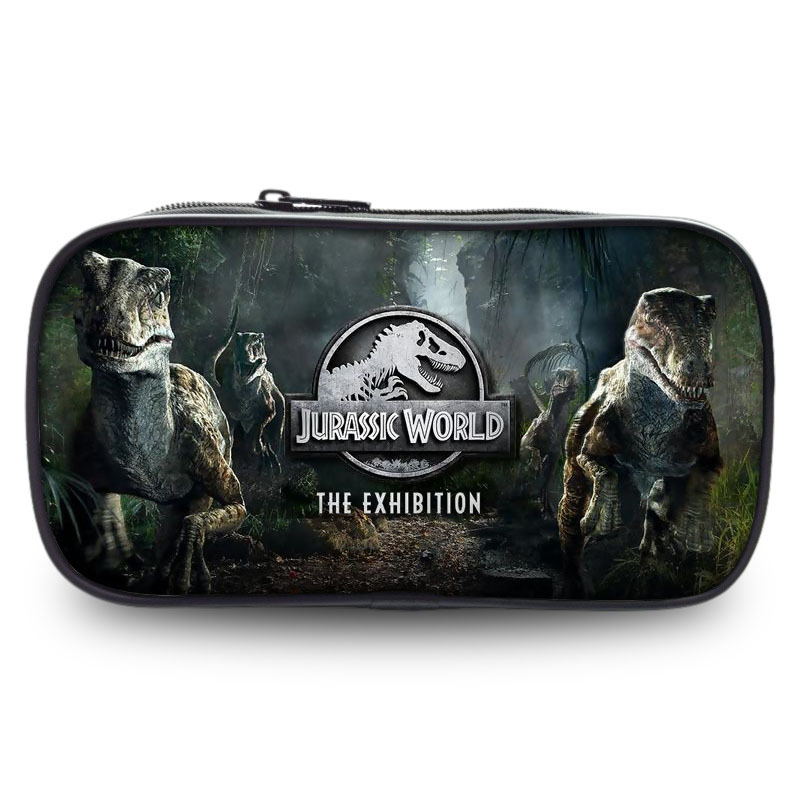 JURASSIC WORLD PARK MOVIE Wallet Bag Zipper Pencil Case Cosmetic Pouch Students Wallet Purse Bag Boys Girls Gift Pencil Holder