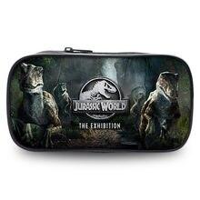Jurassic world park filme carteira saco com zíper caso lápis cosméticos bolsa estudantes bolsa bolsa bolsa meninos meninas presente lápis titular