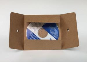 Image 2 - MaoTu 20 قطعة/الحزمة كرافت ورقة حقيبة CD DVD التعبئة والتغليف الأكمام مغلفات التعبئة والتغليف حامل غطاء الورق المقوى دائم براون