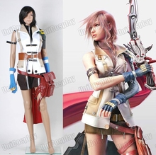 Final Fantasy XIII Lightning Cosplay Costume Woman Suits