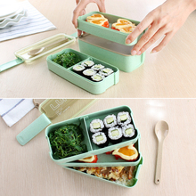 750ml Microwave Lunch Box 3 Layers Food Container Storage Travel Picnic Dinnerware Set Resizable Grids