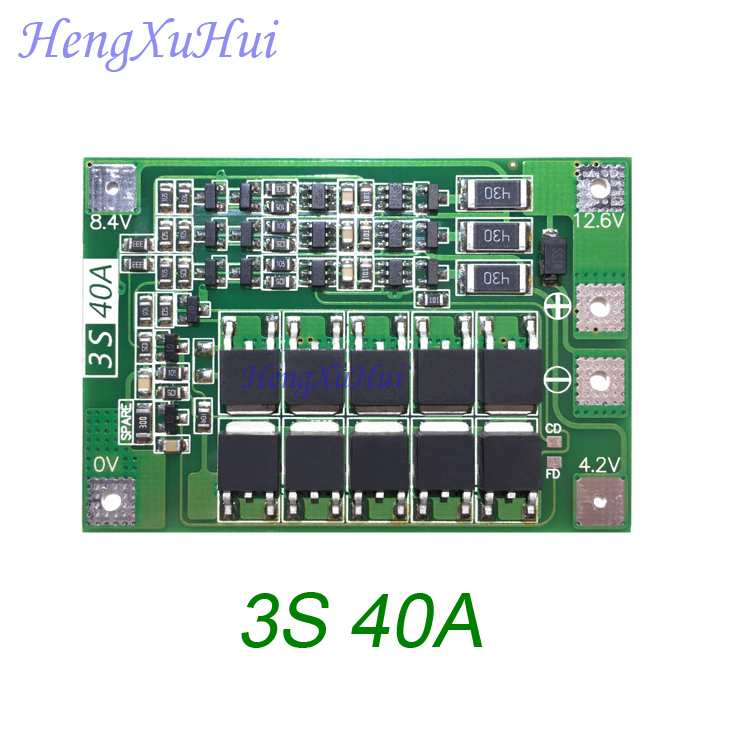 equalized Charging Optional Expressive 3s 40a Li-ion Battery Protection Board Drive Drill Motor 11.1v 12.6v Pcb Board 10pcs/pack Fine Craftsmanship