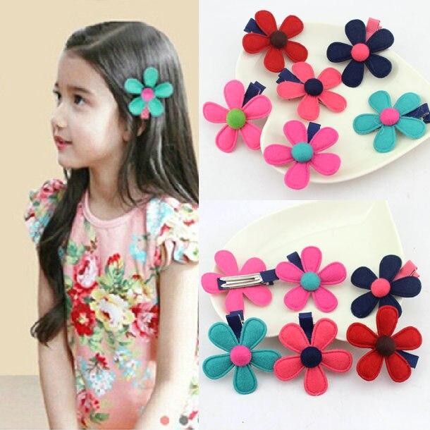 6pcs/lot Fashion flower children kids babys