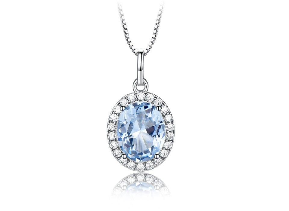 UMCHO Sky blue topaz 925 sterling silver jewelry set for women S010B-1 PC (4)