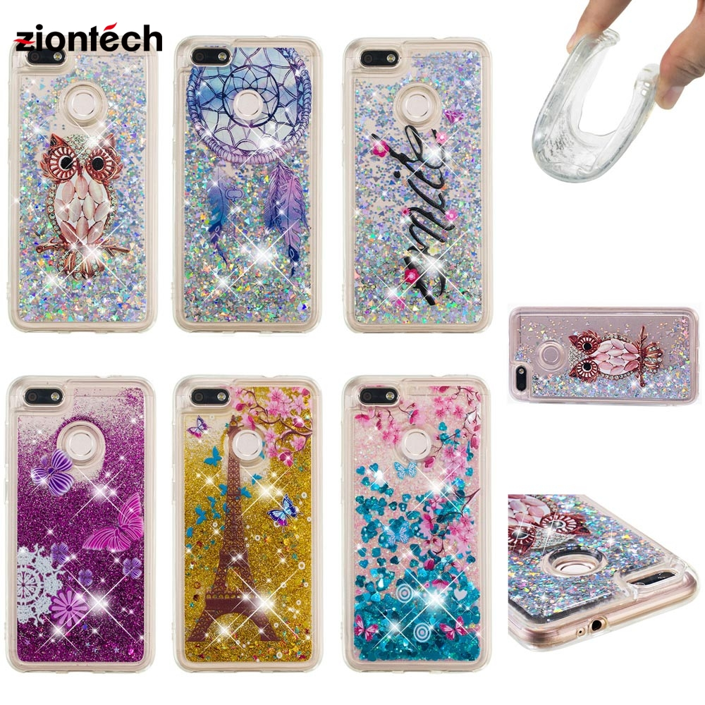 Phone Bags & Cases Fitted Cases Soaptree Phone Case For Huawei Nova Lite 2017 Y6 Pro 2017 P9 Lite Mini Enjoy 7 5.0 Inch Glitter Liquid Soft Tpu Cover Lustrous Surface