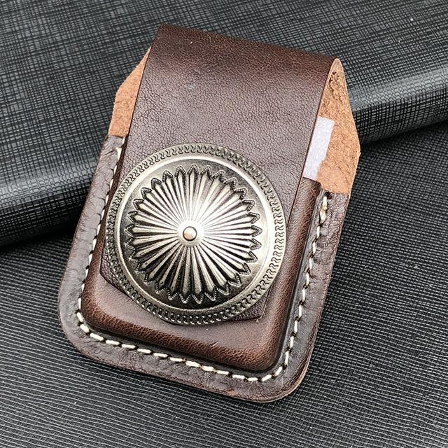 COSY MOMENT Leather Handmade Cigarette Lighter Holder Bag For Zippo  Oil Lighter Case For Men Gift YJ368