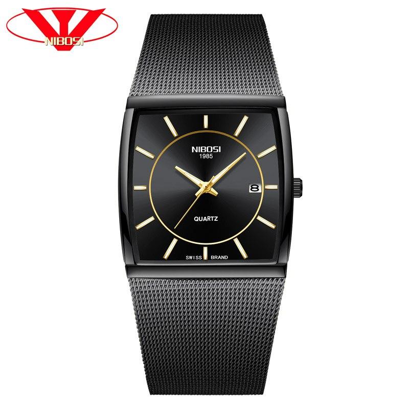 NIBOSI Men Quartz Sports Watches Fashion Top Brand Steel Strap Creative Waterproof Wristwatches Man Clock Relogio Masculino 2018