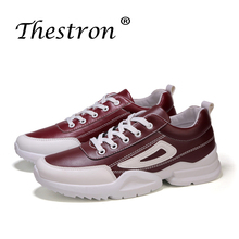 New Trend Mens Casual Shoes Comfortable for Youth Hot Sale High Quality Designer Sneakers Pu Leather Lace Up