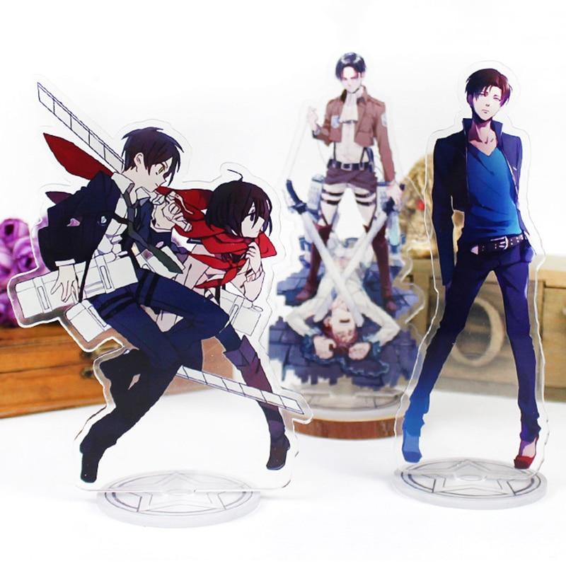 Anime Attack On Titan Big Display Stand Figure Model Plate Holder Japanese Cartoon Shingeki No Kyojin Figure Acrylic Collections