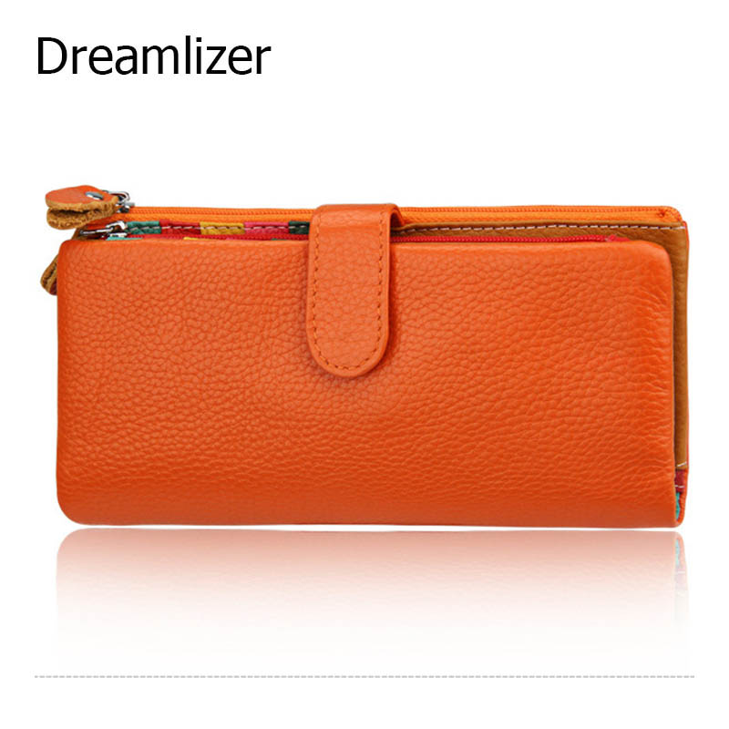 2015 Genuine Leather Wallet Women Wallets Brand Design Fashion Designer Purses For Women With High Quality