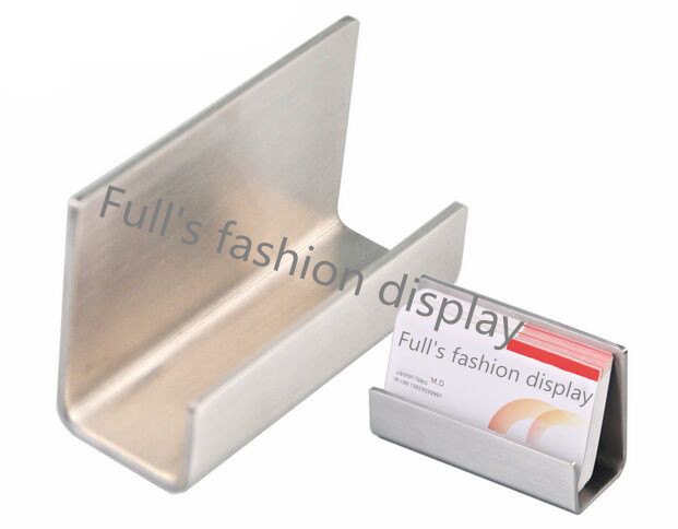 Free shipping high quality stainless steel business card holder name free shipping high quality stainless steel business card holder name card holder display stand satin finish reheart